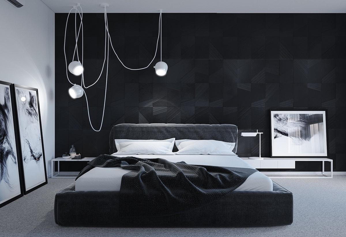 tips dekorasi kamar tidur hitam putih