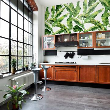 7-Inspirasi-Percantik-Wallpaper-Dinding-Dapur-Minimalis-daun