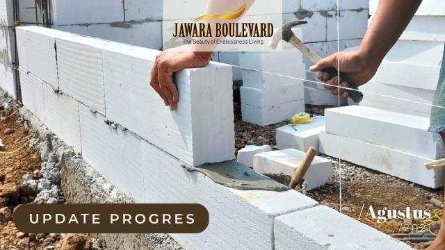 Serentak Progres Pembangunan 32 Unit Hunian Subsidi Jawara Boulevard Agustus 2021