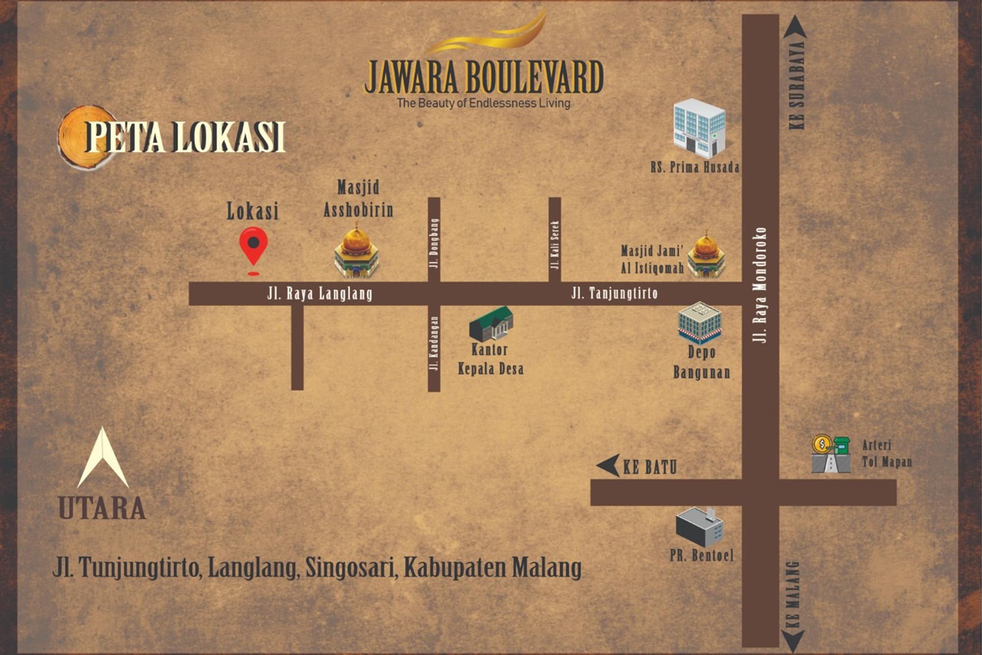 Map Jawara Boulevard