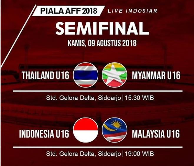 Laga Semifinal Piala AFF U-16