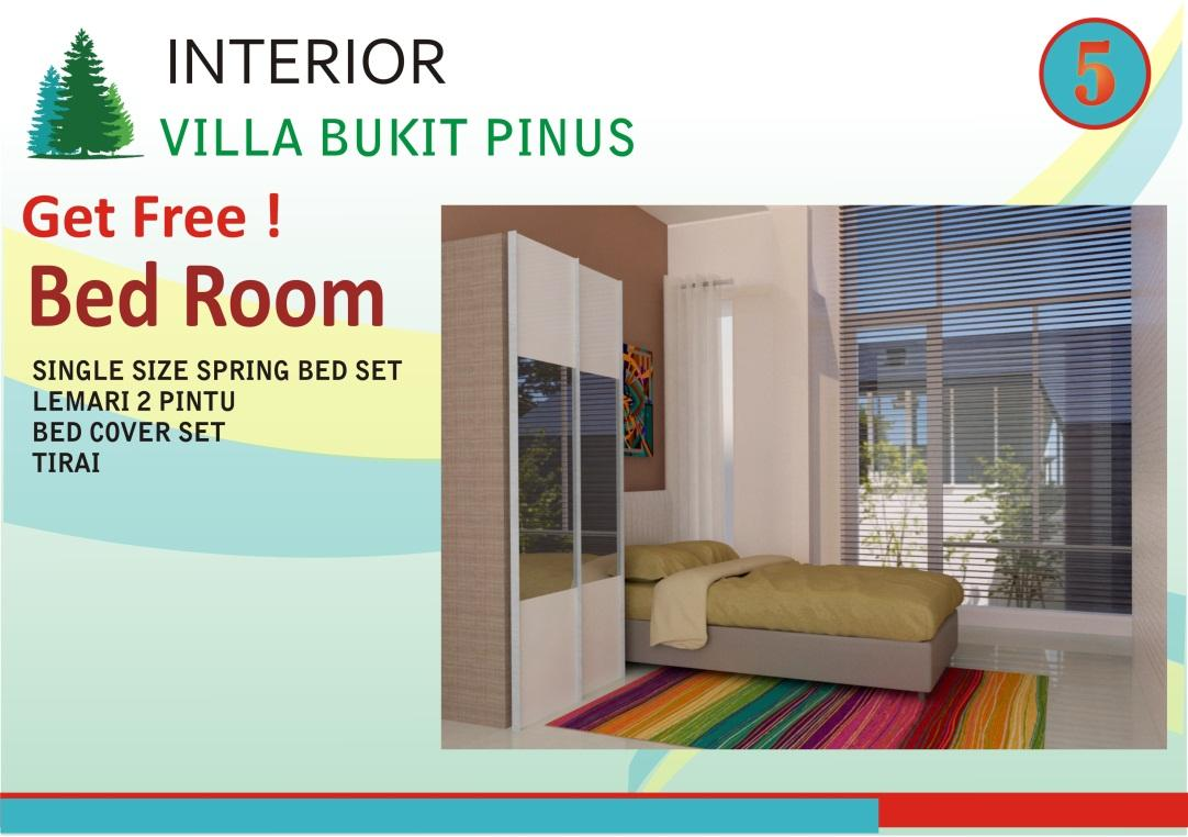INTERIOR VILLA BUKIT PINUS BED ROOM SINGLE