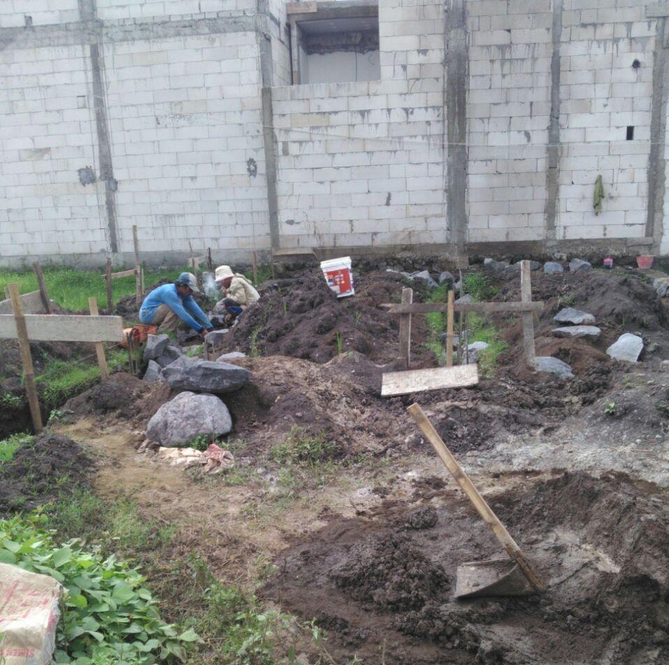 Gambar pemasangan bouwplank