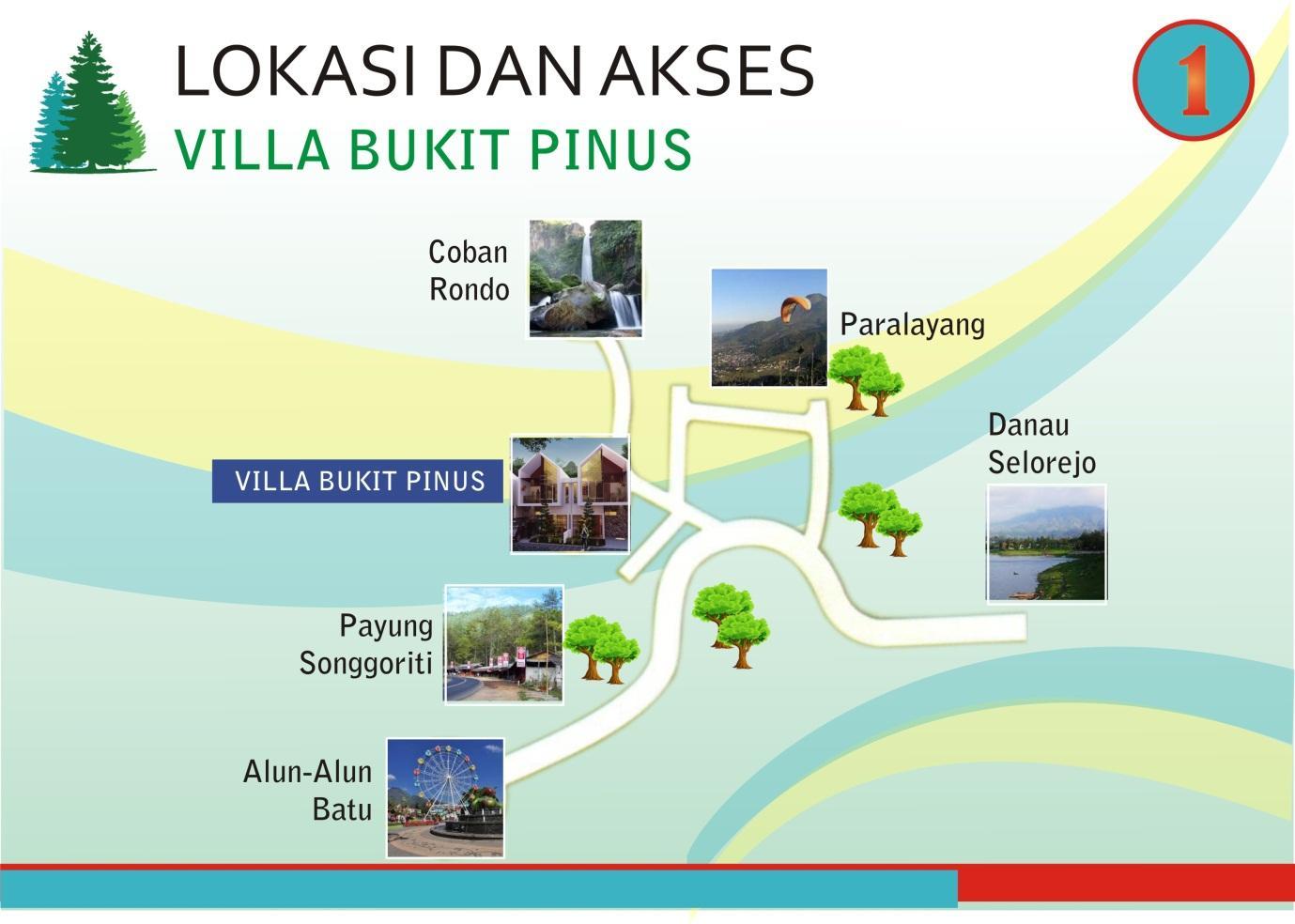 Lokasi dan Akses ke Villa Bukit Pinus