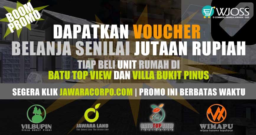 Dapatkan Voucher Belanja Senilai JUTAAN Rupiah Tiap Beli Rumah Murah di BTV dan VBP Malang