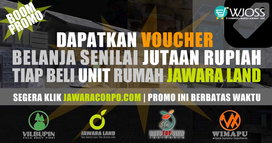 Dapatkan Voucher Belanja Senilai JUTAAN Rupiah Tiap Beli Rumah Murah Jawara Land Malang